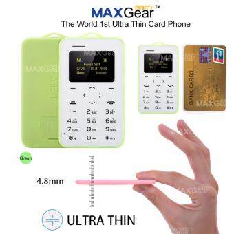 Harga MAXGear C6 Mini Mobile Card Phone Basic Back Up Cellphone 2G Nano Sim - GN AEKU-C6-GN