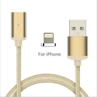 Harga 2.1A magnetic cable fast charging data cable for iphone 7 6 5 6s 5s plus ipod mobile phone cables, Gold