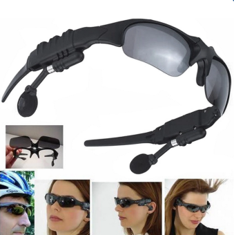 Harga V4.1 Outdoor Sports Bluetooth Earphone Glasses Stereo 7 in 1 Photo+Call + Music + Voice +Warn Smart Glasses(Color:Gray)