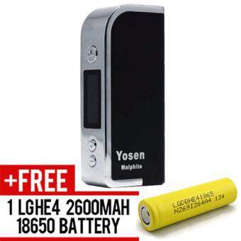 Harga Super Fast Marketing - Yosen Malphite (BLACK) Mod For Vape And Electronic Cigarettes + 1 LGHE4 YELLOW BATTERY