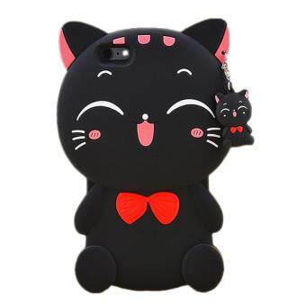 Harga 3D Cute Lucky Cat Smiling Fortune Cat Soft Silicon Back Cover Case For Apple iPhone 7Plus