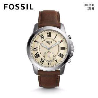 Harga FOSSIL Q GRANT DARK BROWN LEATHER HYBRID SMARTWATCH