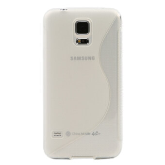 Harga Tkoofn S-Line Translucent Clear TPU Case Cover For Samsung Galaxy S5 SV BHK1001 (White)