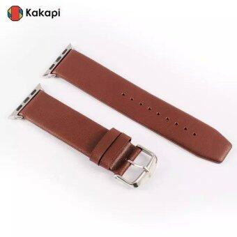 Harga KAKAPI Top Layer Genuine Leather Strap for Apple Watch 38mm with Connector - Coffee