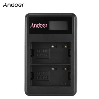 Harga Andoer Mini Portable Dual Slot LCD Screen USB charger for Nikon EN-EL3/EL3E DSLR