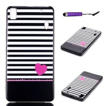 Harga Moonmini Soft TPU Phone Back Case Cover for Lenovo K3 Note A7000 (Stripe )