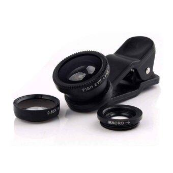 Harga 3 in 1 (Fish-Eye, Macro & Wide angle) Universal Mobile Phone Lens Set