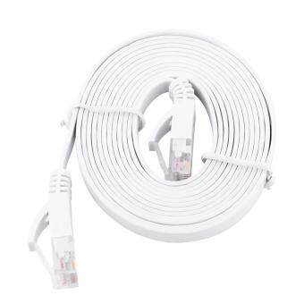 Harga RJ45 CAT6 Ethernet Network Flat LAN Cable UTP Patch Router Cables 1000M (White 2meters)