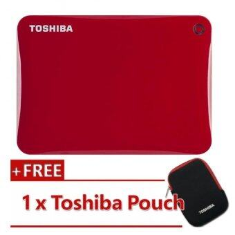 Harga Toshiba Canvio Connect II V8 1TB External HDD Red (HDTC810AR3A1)