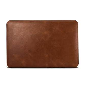 Harga ICARER Vintage Genuine Leather Coated Hard Snap-on Cover for MacBook Air 11 Inch - Brown