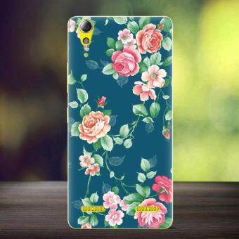Harga Softlyfit Embossed TPU Gel Case for Lenovo A6000 / A6000 Plus - Blooming Roses