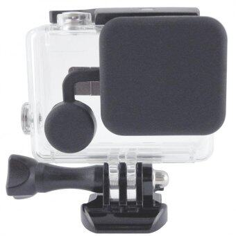 Harga MADPRO Black Soft Silicone Lens Cover Cap for GoPro HD Hero 4 3+ Skeleton Housing Case