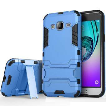 Harga Heavy Duty Dual Layer Drop Protection Shockproof Armor Hybrid Steel Style Protective Cover Case with Self Stand for Samsung Galaxy A7 2015