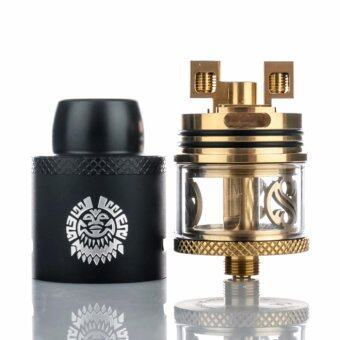 Harga [Authentic] Augvape Merlin RDTA Drip Tank Dripper Tank Atomizer [Original] Black x Gold