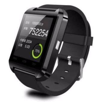 Harga Smartwatch iWatch U80 GSM / Micro SD Mobile Phone Watch ( BLACK