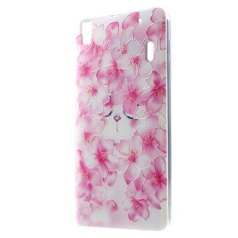 Harga Blooming Plum Blossom TPU Cover for Lenovo A7000 / K3 Note K50-t5 (Pink)