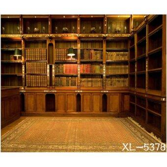 Harga Photography Backdrop Background Studio HY-6654 Library, Book, Staircase & Family Photo (3M X 6M)