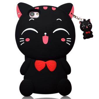 Harga 3D Cute Lucky Cat Smiling Fortune Cat Soft Silicon Back Cover Case For VIVO X5 Pro