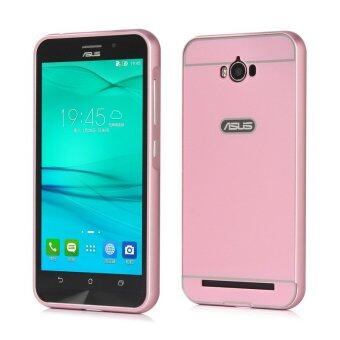 Harga Moonmini PC Back Cover Metal Bumper Frame Case for Asus ZenFone Max ZC550KL (Pink)