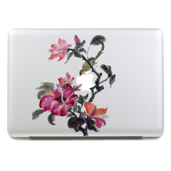 "Harga SkinAt Blooming Flower MacBook Sticker Vinyl Decal for 15"" Apple Laptop"