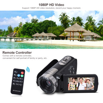 Harga Andoer HDV-302S 3.0 Inch LCD Screen Full HD 1080P 30FPS 20MP 16X Digital Zoom Anti-shake Digital Video DV Remote Control Shutter Camera Camcorder Outdoorfree