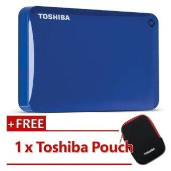 Harga Toshiba Canvio Connect II V8 1TB External HDD Blue (HDTC810AL3A1)