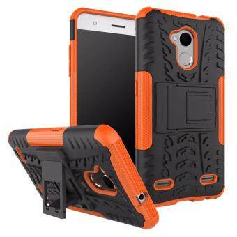 Harga Hard Plastic + TPU Combo Armor Bracket Protective Cover Case For ZTE Blade V6 Plus / V7 Lite (Orange)