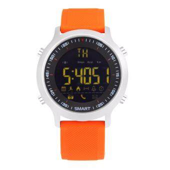 Harga Makibes EX18 Smart Watch 5ATM Waterproof Bluetooth 4.0 Call SMS Reminder Compatibie with iOS Android - Orange