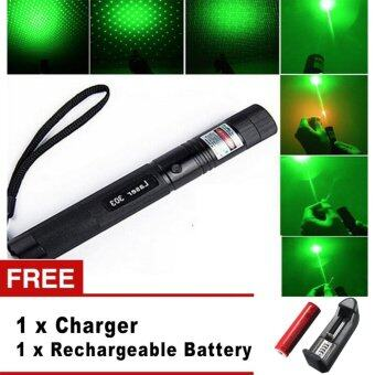 Harga Top Laser 303 10000mw Green Laser Pointer Adjustable Focal Length With Star Pattern Filter