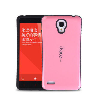 Harga iFace Heavy-Duty Shockproof Hard Case for XiaoMi RedMi Note 4G 5.5' inch (Pink)