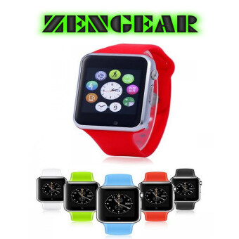 Harga (2016 New Version - Original) ZenGear A1 Bluetooth Smart Watch With SIM Phone Call ,Take Selfie for iPhone and Android Smartphones (Red)