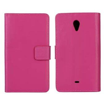 Harga Moonmini Genuine Leather Flip Stand Cover for Sony Xperia T LT30p (Hot Pink)