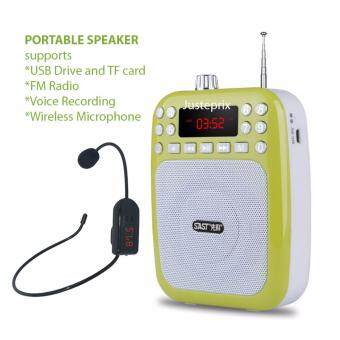 Harga FM Wireless Microphone Portable Speaker Loudspeaker Teacher Guide Leader