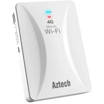 Harga Aztech MWR647 4G Mobile Wi-Fi with Built-in PowerBank - 4G / 3G Compatible MiFi & CCTV