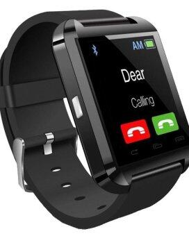Harga Smartwatch iWatch U80 GSM / Micro SD Mobile Phone Watch ( Black )
