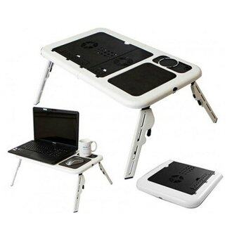 Harga E-Table Portable Foldable Laptop Notebook E-Table Desk with Cooling Fan System LD09