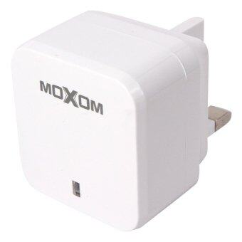 Harga MOXOM Original 2.1A Dual USB Output Travel Home Charger For Samsung Lenovo Asus HTC with Cable