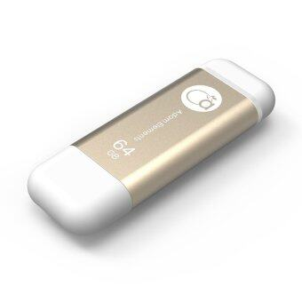 Harga Genuine Adam Elements 64GB Iklips OTG Flash Drive For Apple iPhone and iPad - Gold