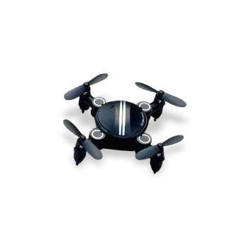 Harga Z201 Foldable RC Pocket Quadcopter Aircraft 2.4G 4CH 6-axis Gyro Headless Mode 3D Unlimited Flip RTF (Black)