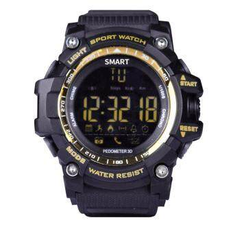 Harga Makibes EX16 5ATM Waterproof Smart Watch Bluetooth4.0 Call SMS Reminder Compatibie with iOS/Android - Gold