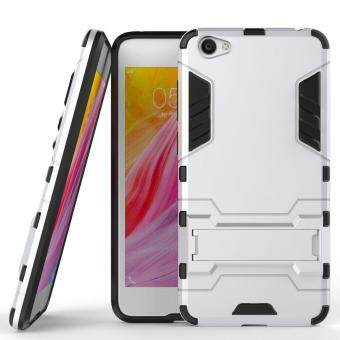 Harga Heavy Duty Dual Layer Drop Protection Shockproof Armor Hybrid Steel Style Protective Cover Case with Self Stand for Vivo Y55