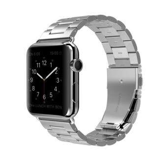 Harga Apple Watch Band Stainless Steel Metal Watch Strap Replacement Bracelet for Apple iWatch 38mm