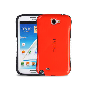 Harga iFace Heavy-Duty Shockproof Hard Case for Samsung Galaxy Note 2 (Red)