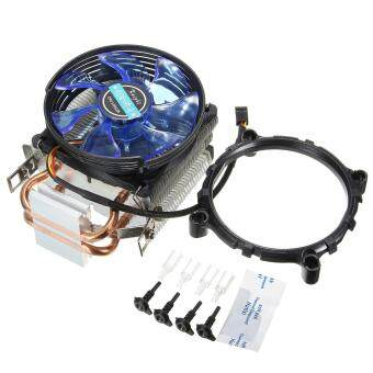 Harga 3Pin Copper LED CPU Cooler Fan Heatsink for Intel LGA775/1156/1155 AMD AM2/AM2+