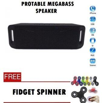 Harga NEW MegaBass Speaker Protable Music - Microphone, Bluetooth, Hands-free Calls, Volume Contro, Subwoofer, Double speakers (Ready Stock) Fast Delivery!!