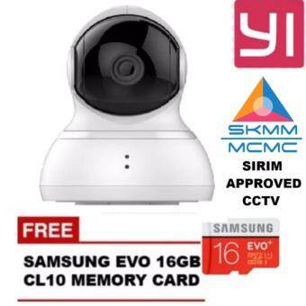 Harga (Genuine) INTERNATIONAL English Version XiaoYi Yi 360 Degree Pan Tilt Dome CCTV International Edition Home IP Camera + SAMSUNG 16GB CL10 Bundle