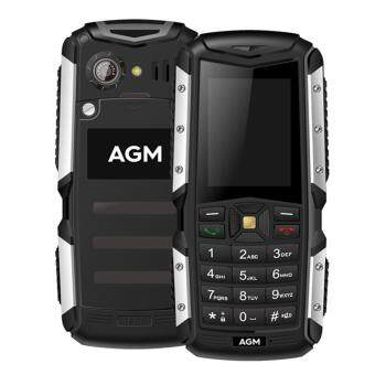 Harga AGM M1 Tri-proof Feature Cellphone 3G Phone 2.0inch 128MB+64MB Black