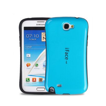 Harga iFace Heavy-Duty Shockproof Hard Case for Samsung Galaxy Note 2 (Light Blue)