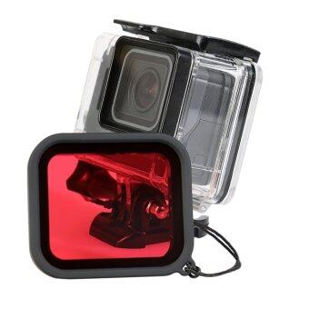 Harga MADPRO Gopro Hero 5 Accessories Filter Lens Red Orange Yellow Underwater Sea Dive Camera Cover Cap Hood for Gopro Hero 5 Action Camera