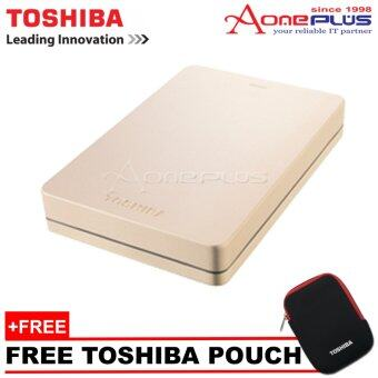 Harga Toshiba 2TB Canvio Alumy Metal Chassic USB3.0 Portable Hard Drive - Rose Gold + Free Pouch